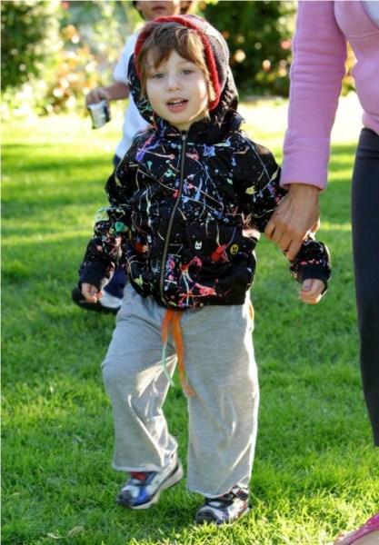 Adorable Overload: Christina Aguilera's son Max Bratman Out with His Nanny