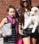 Miley Cyrus And Her Little Sister Play Fashion Designer