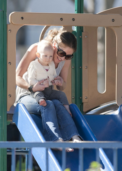 Rebecca Gayheart With Her Daughter Billie At The Park