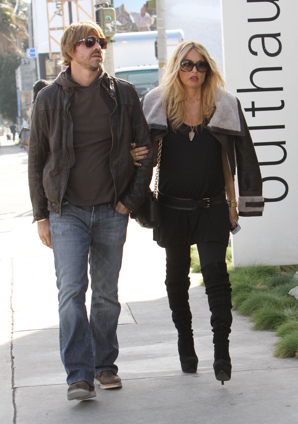 Rachel Zoe Rocking Her Baby Bump In Sky High Boots