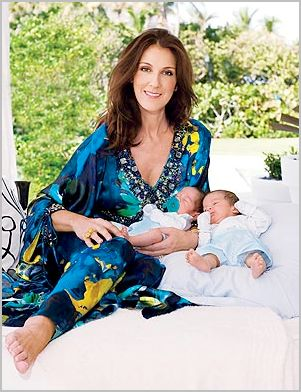 Celine Dion Had Her Twins Baptized Wearing Baby Dior