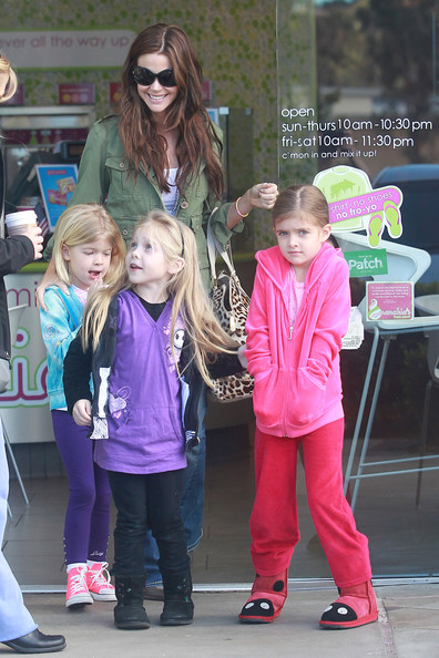 Denise Richards With Her Daughters Sam and Lola in LA
