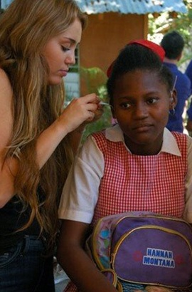 Miley Cyrus Lends a Helping Hand To Deaf Children in Haiti