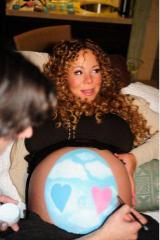 Mariah Carey Paints Her Pregnant Belly Like An Easter Egg