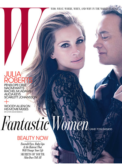 Julia Roberts & Tom Hanks Cover W Magazine