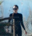 Angelina Jolie In a Wetsuit at a Marine Park in Malta