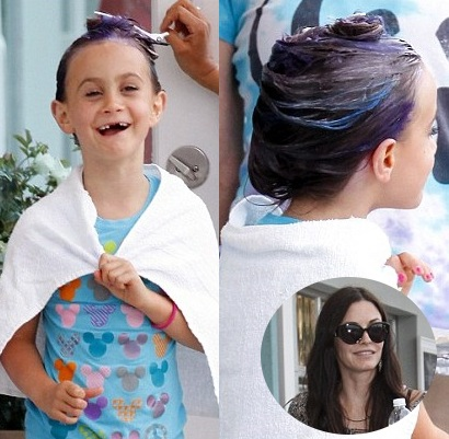 Courteney Cox's 7 Year Old Daughter Dyes Her Hair Purple