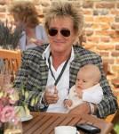 Rod Stewart with Baby Aiden at Salon Prive