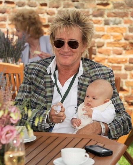 Rod Steward Shows Off Baby Aiden