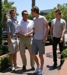 Arnold Schwarzenegger and Son Patrick Grab Lunch