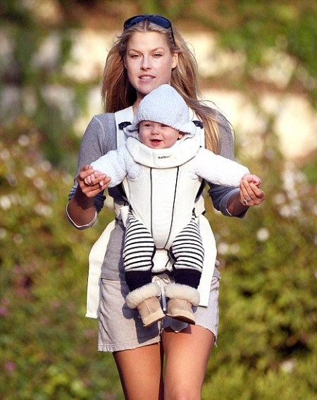 Ali Larter and Her Son Theo