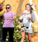 Ali Larter and Son Theo with actress Amy Smart