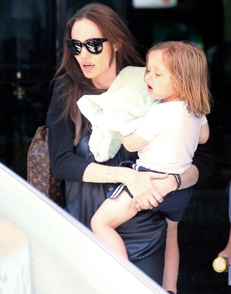 Angelina Jolie Goes Bowling With the Kids
