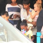 Angelina Jolie and her Children Go Bowling in Malta