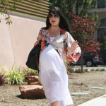 Selma Blair Shows Off Her Bump in a Maxi Dress