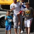 David Beckham and Sons Getting Ice Cream