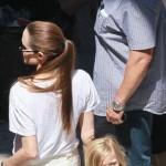 Angelina Jolie, Zahara and Shiloh Visit Brad Pitt on Set