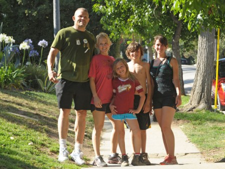 Chuck Lidell Goes on a Hike in the Hollywood Hills With Family