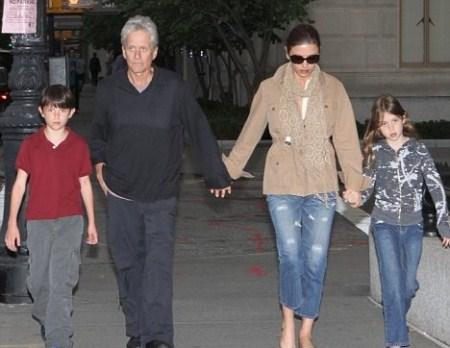 Michael Douglas and Catherine Zeta-Jones With Their Children