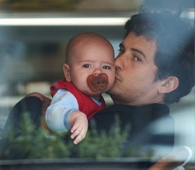Orlando Bloom and His Son Flynn