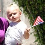 Zuma holding an American Flag