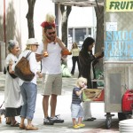 Naomi Watts and Liev Schreiber in Tribeca to pick up juice for their sons, Sasha and Samuel