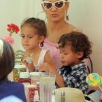 Jennifer Lopez Takes Twins to Disney Land