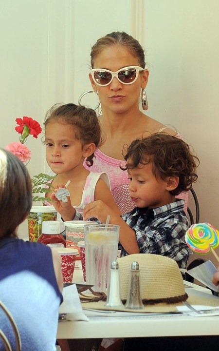 Jennifer Lopez With Emme and Max at Disneyland