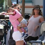 Jennifer Lopez and Max at  Disneyland in California