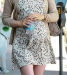 January Jones' Busy Day With Her baby Bump