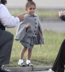 Jennifer Lopez's daughter, Emme arrinving in London