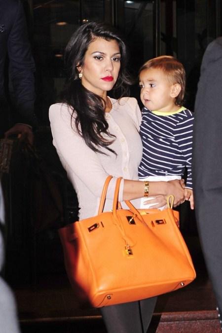 Kourtney Kardashian With Son