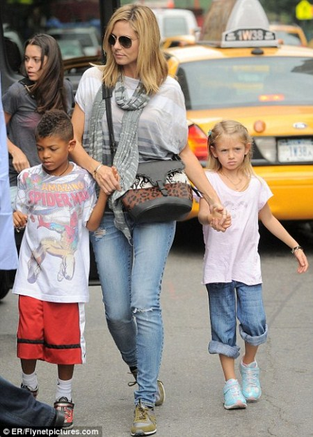 Heidi Klum Out in NYC With Children