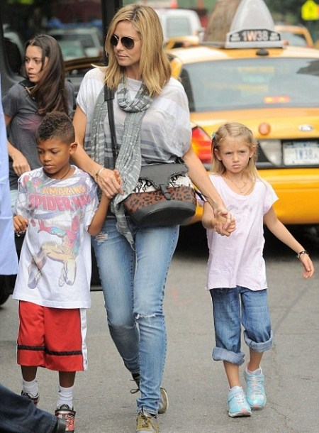 Heidi Klum in NYC with Children