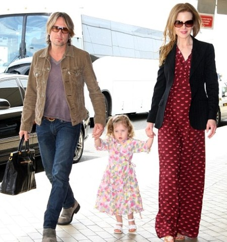 Keith Urban and Nicole Kidman with Daughter