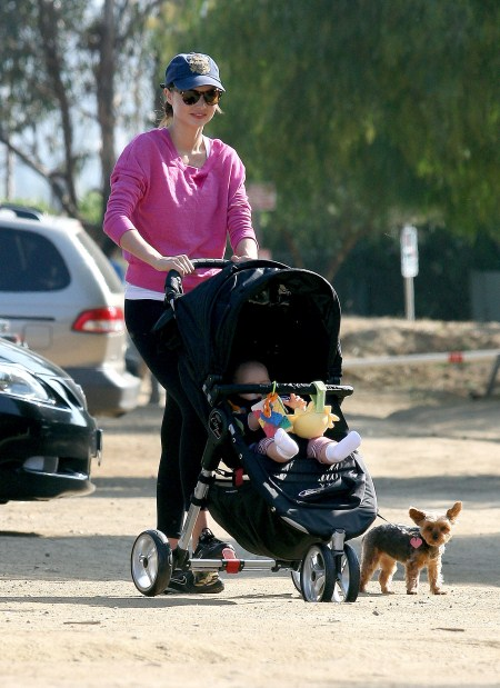 Miranda Kerr Strolls With Her Son