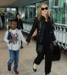 Madonna with sons Rocco & David at Heathrow