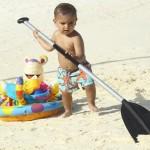 Kourtney Kardashian, Scott Disick with Mason in Bora Bora