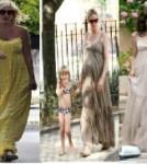 Pregnant Celebrities in Maxi Dresses