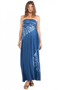 NOM Navy Zora Maxi Dress