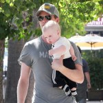 Neil Patrick Harris and his partner David Burtka out for Father's Day dinner with their twins Gideon Scott and Harper Grace