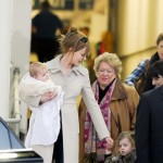 Nicole Kidman holding Faith Margaret and Sunday Rose at the Sydney Airport