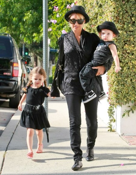 Nicole Richie and Kids Sport Matching Outfits