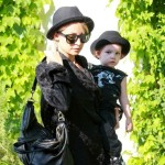 Nicole Richie and Her Children Harlow and Sparrow Leaving a Friend's House
