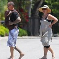 Pink and Carey Hart Walking with Willow