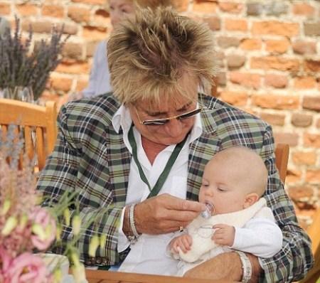 Rod Stewart with Son Aiden at Salon Prive