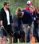 Reese Witherspoon and Ryan Phillippe's at Deacon's football match