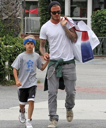 David Beckham Shops With Romeo