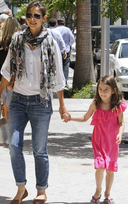 Katie Holmes and Suri Cruise Go Shopping