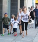 Sharon Stone With Sons Roan Joseph Bronstein, Laird Vonne Stone and Quinn Kelly
